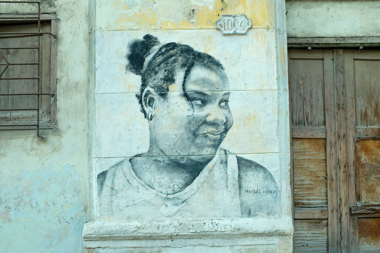Mural of young