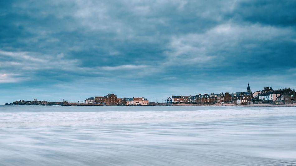 North Berwick Northberwick Scotland Seaside Town Shore Sea Northernsea Water Long Exposure Cloudy Sky Landscape Waterfront Blueish Building Exterior Architecture Built Structure Cloud - Sky Scenics No People