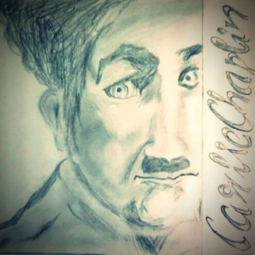 A tribute to charlie chaplin.. Charlie Chaplin Art Art Work Pencil Sketch  Favorite Hours Of Work