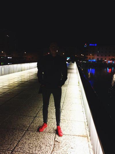 Me Noselfie 😄 Night Bridge Zadar Most