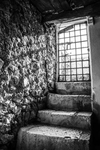 Monte Fusco Avellino Carcere Borbonico Scalini Grata Cancello Window Architecture Staircase Indoors  Built Structure No People Day