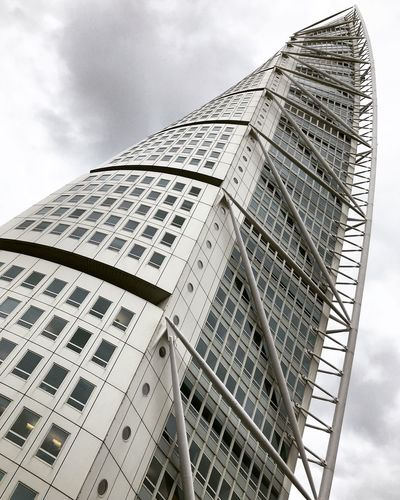 Mind Twister Turning Torso Malmö Built Structure Architecture Low Angle View Building Exterior Sky City Cloud - Sky Skyscraper Office Building Exterior Tower