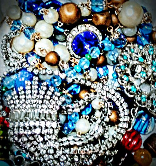 Blues and whites. Blue No People Bead Indoors  Necklace Large Group Of Objects Close-up Variation Jewelry Artofvisuals Abstract Multi Colored Illuminated Backgrounds Diamonds And Pearls Beauty In Things Day Flying High