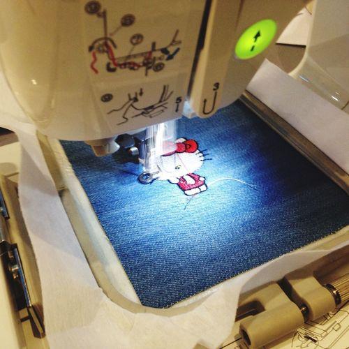 Hello Kitty Needle & Pin Pinn Shop Handy Craft Texture Textile Graphic On Fabric Pattern