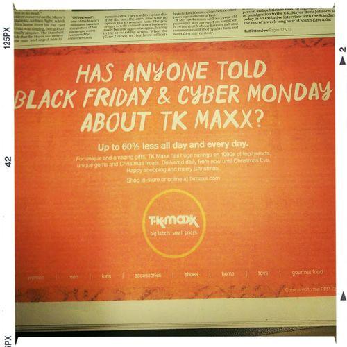 Black Friday Tk Maxx