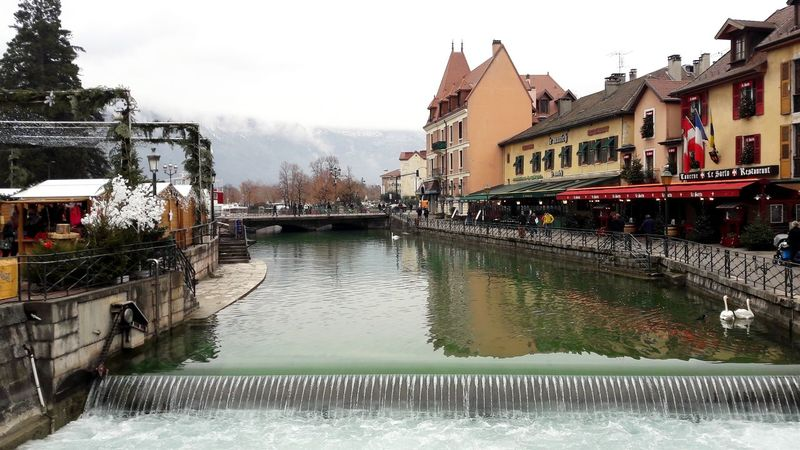 France Lake Lake View Lake Town Building Exterior Built Structure Building House Houses And Windows Footbridge Flood Canal Arch Bridge Boat Old Town Watermill Bridge