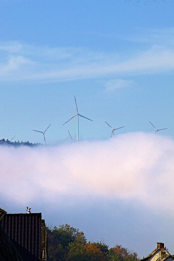 EyeEmNewHere Windpark Im Nebel Alternative Energy Beauty In Nature Day Environmental Conservation Fuel And Power Generation Hunsrück Industrial Windmill Nature No People Outdoors Renewable Energy Sky Wind Power Wind Turbine Windmill