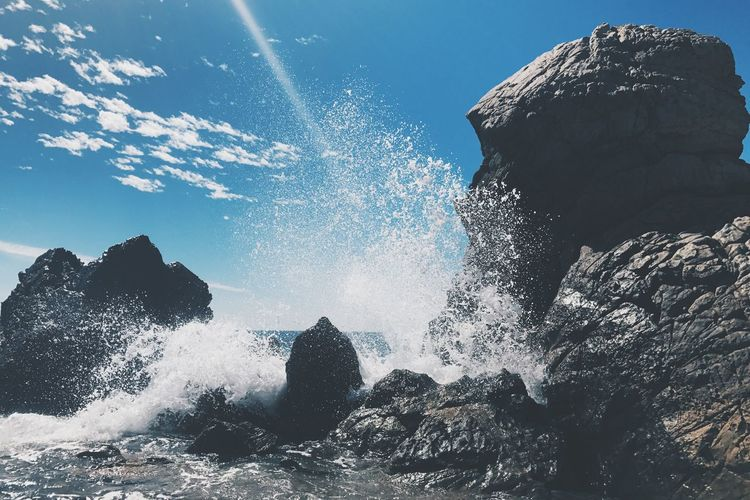 Sea Motion Beauty In Nature Sky Wave Outdoors Rock - Object No People Power In Nature Crashing Ocean
