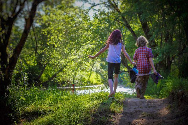 My kids walking Togetherness People Bonding Leisure Activity Outdoors Nature Weekend Activities