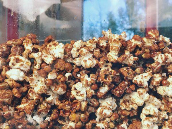 Popcorn on showcase Popcorn Showcase Food Cinema