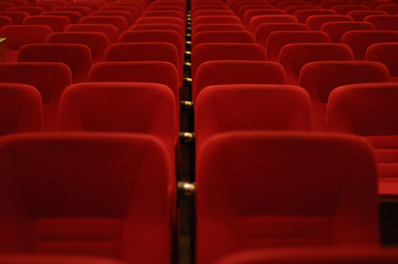 Personal Perspective Perspective Perspective Photography Perspectives And Dimensions Perspective View Theater Chairs Seats Minimalobsession Minimalism Minimalist Red Red Color No Effects No Filter