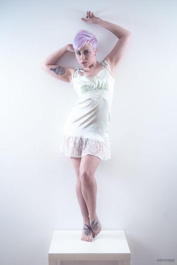 Little Sofi. Model Lingerie Pixiecut Alternative Studio