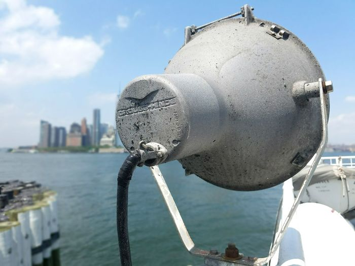 New York Harbor Boat Lamp Ferry New Perspective Boat View Water Manhattan Manhattan Building Part Of Boat
