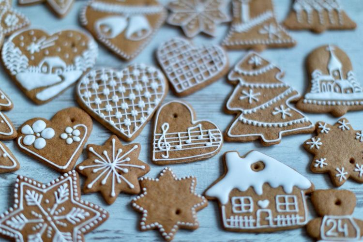 EyeEm Selects Celebration Christmas Holiday Star Shape Shape Cookie Sweet Food christmas tree Baked No People Decoration Food Christmas Decoration Gingerbread Cookie