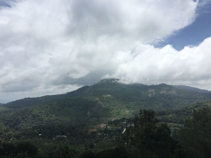 Mountains Landscape Eastern Ghats Overcast Outdoors Yercaud Tamilnadu India Cloudy