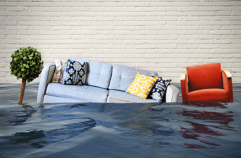 Flooded living room Furniture Sofa Architecture Nature Water Apartment Indoors  Flood Climate Change Insurance Problem Wet Envrionment Flooding Damaged Mold Room Moisture Global Warming Domestic Room Wall House Disaster Pipe - Tube Broken