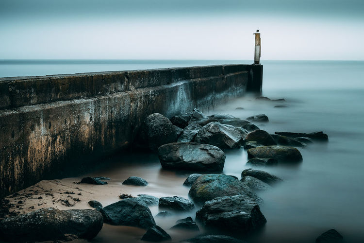 Groyne by sea