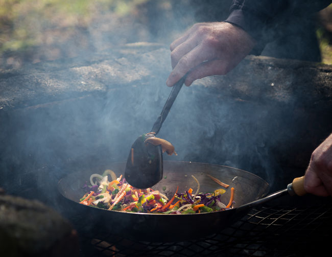 Camping Food And Drink Travel Burning Campinglife Food Food And Drink Foodphotography Foodporn Freshness Heat - Temperature Human Body Part Human Hand Kitchen Utensil Outdoor Real People