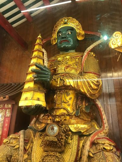 Representation Art And Craft Gold Colored Human Representation Belief Sculpture Statue Architecture Building Ornate Built Structure Spirituality Male Likeness Creativity Religion Place Of Worship No People Craft Idol Indoors