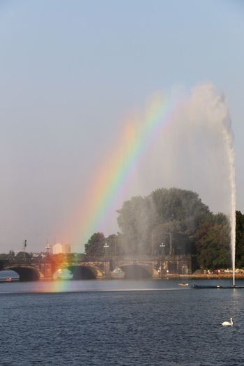 Rainbow Waterfront Multi Colored Water Beauty In Nature Scenics Tranquil Scene Outdoors Natural Phenomenon Taking Photos Hamburg Alster GERMANY🇩🇪DEUTSCHERLAND@