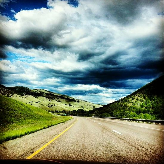 Road Trip Passanger Seat Riding Storm Clouds Clouds And Sky Enjoying Life Beautiful Day Living Life Montana Country Road BigSkyCountry Capturing Freedom Left Lane Blueskyporn On The Road Roadandscenery Mountainzone Mountain View Mountain_collection Mountainsinlove Mountains And Valleys Mountainscape Leftturn Highwayphotography Montanaisawesome Montanacolors