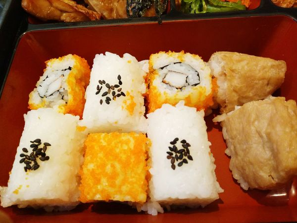 Cooked Food Rice Ball Jepan Japanese Food Indoors  High Angle View Tray Freshness Ready-to-eat Collection Meal Main Course Dirty Serving Size Temptation Cooked Appetizer Shushi