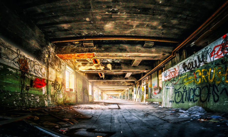 Lost Abandoned Absence Architecture Building Built Structure Damaged Direction Graffiti Indoors  Lost Places Lostplace Lostplaces Messy No People Obsolete Old Ominous Ruined The Way Forward Tunnel Urbex Urbexexplorer Urbexphotography Wall - Building Feature