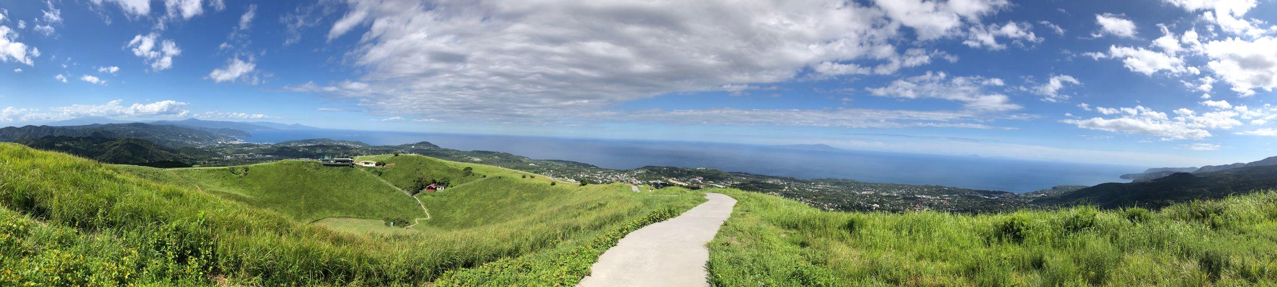 大室山の素敵な景色\(^o^)/ Panorama Mt.omuro 大室山 Outdoors Cloud - Sky Beauty In Nature Field Mountain Nature