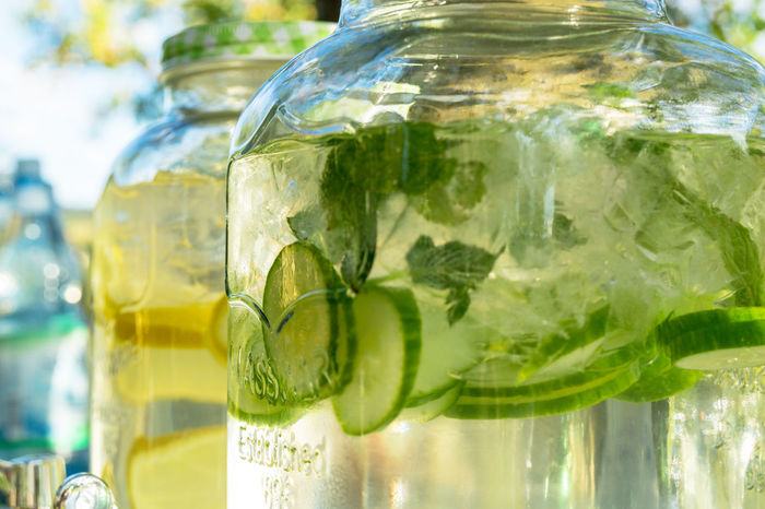 jar or glass with lemonade Alcohol Citrus Fruit Close-up Cocktail Drink Drinking Glass Focus On Foreground Food Food And Drink Fruit Glass Glass - Material Herb Household Equipment Leaf Lime Mint Leaf - Culinary Mojito No People Refreshment Transparent