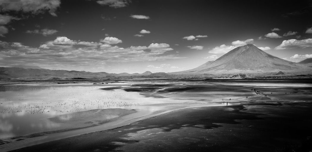 Africa Beauty In Nature Beauty In Nature Cloud - Sky Dry Heat Lake Natron Landscape Mountain Nature No People Reflection Salt Lake Scenics The Great Outdoors - 2017 EyeEm Awards The Photojournalist - 2017 EyeEm Awards Water