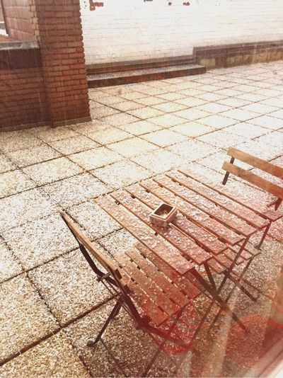 High Angle View Wood - Material Outdoors Day No People Snowing Let It Snow Good Morning Belgium Hot Chocolate Time  Christmas Time 2016