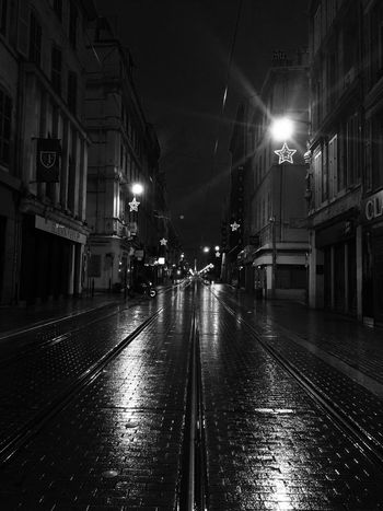 🌌💫🌌 Marseille Night Illuminated Building Exterior Built Structure Street Light Architecture Railroad Track Outdoors No People Sky Nuit Marseillelanuit Monochrome Monochrome Photography Monochromatic Monochrome _ Collection