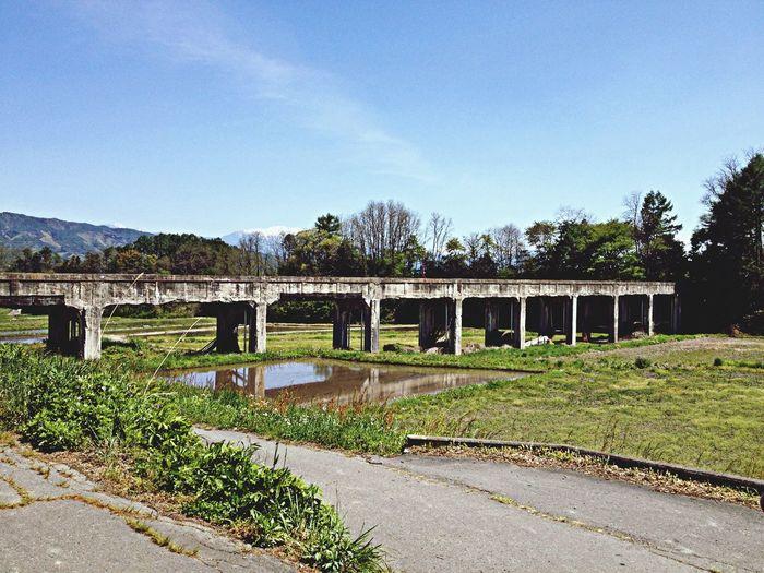 (旧)深沢川水路橋 近代土木遺産 信濃の橋百選 映画ロケ地 さよなら、クロ