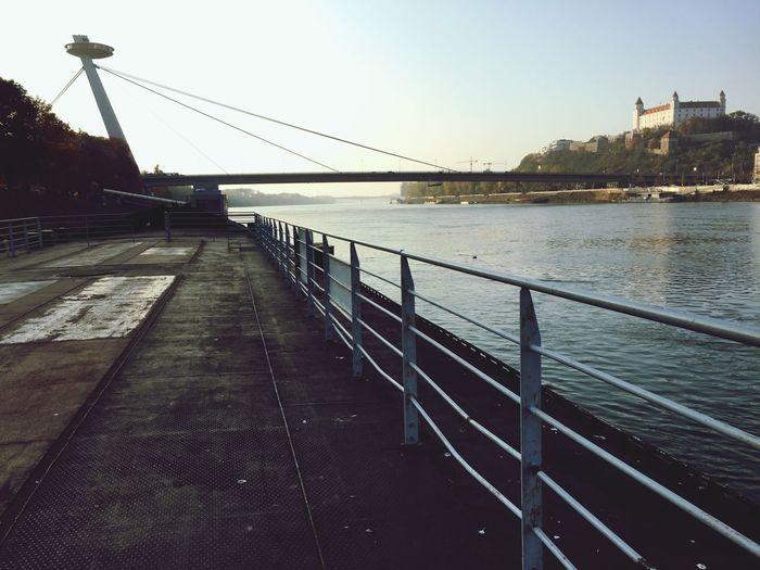 Bratislava... Sun Sunnyday Walking Exploring New Ground UFO SNP Bridge Bratsilava Castle