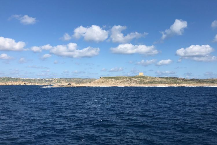 View from the ferry ⛴, Malta 🇲🇹 Nofilter Malta Sky Cloud - Sky Water Tranquil Scene Scenics - Nature Nature Sea Waterfront Blue Outdoors