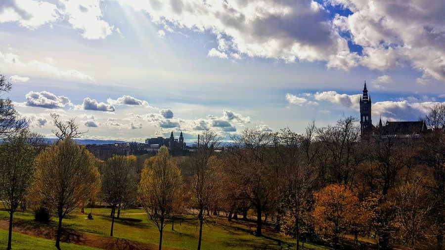 Sunny day at Kelvingrove Park Kelvingrove Park Glasgow  Cloud - Sky Sky No People Tranquility Outdoors Beauty In Nature Tree Day Nature Scenics Home The Week On Eyem EyeEm Best Shots Tranquil Scene Eyemphotography Samsumggalaxy6edgeplus Multi Colored Mycity Scotland PeopleMakeGlasgow Clouds Sunskyclouds
