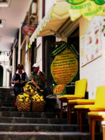 Adults Only Amalfi  Italy Lemon Outdoors Restaurant Shop Street Travel Travel Destinations Vacations Yellow アマルフィー イタリア レモン 階段