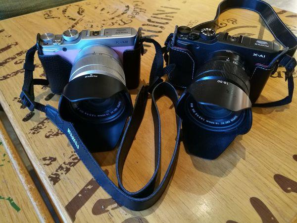 When XA-1 met XA-2.... Fujifilm_xseries Fuji Fuji XA2 Fujixa1