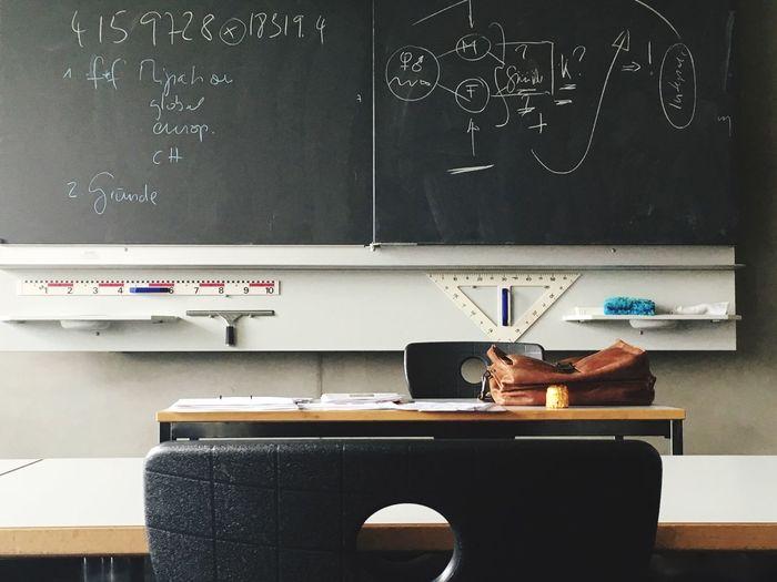 Blackboard In School