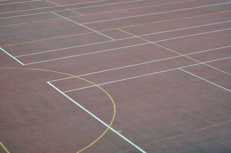 Full frame shot of a sports court
