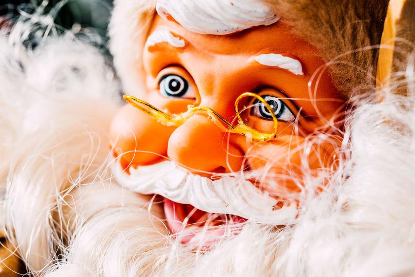 Orange Color Toy Close-up Celebration Human Representation Orange Santa Claus Christmas Decoration christmas tree