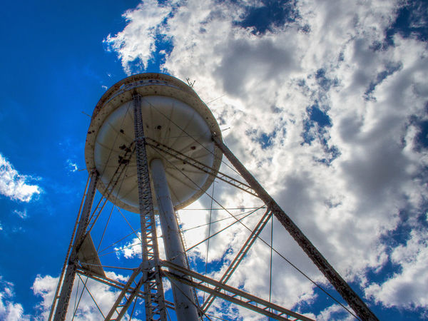 Blue Sky Clouds Color No People Rural Sky And Clouds Texas Water Tower