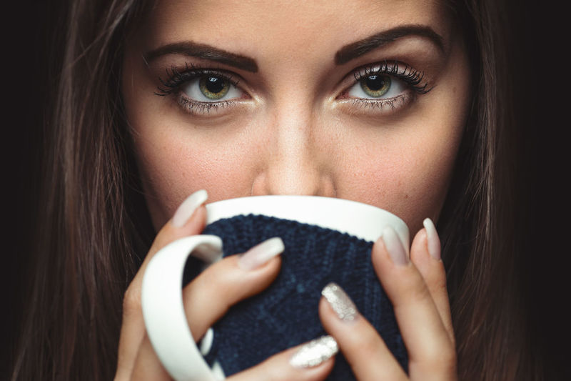 Closeup photo from a beautiful young woman drinking from mug Attractive Beautiful Beauty Brunette Caucasian Close-up Coffe Drink Fine Art Photography Girl Gorgeous Headshot Holding Human Eye Human Face Looking At Camera Mug People Portrait Portrait Of A Woman Sexygirl Sight Women Young Adult Young Women The Portraitist - 2017 EyeEm Awards EyeEmNewHere This Is My Skin
