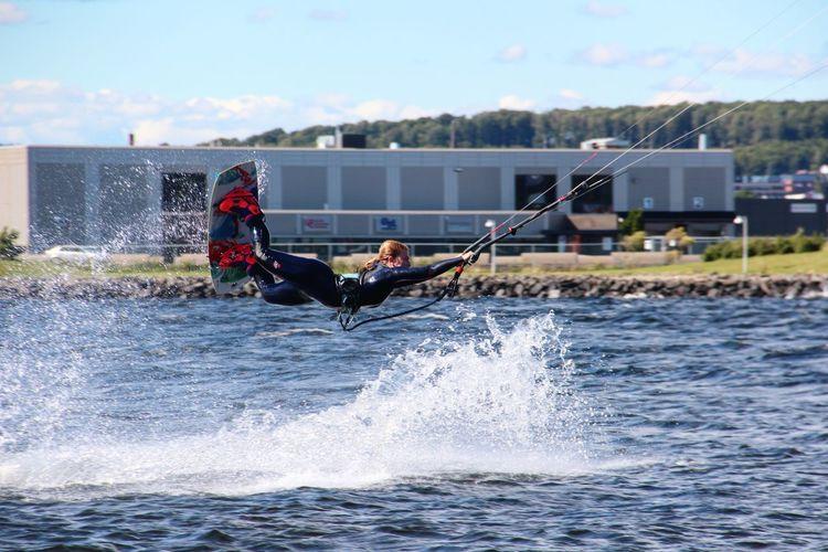 Kiteboarding Railey Superwoman Watersport Norway First Eyeem Photo