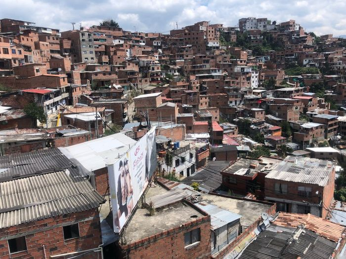 Comuna 13 Poverty Flavella Transformation Comuna13medellin Comuna 13 Colombia Medellín Architecture Building Exterior Built Structure Crowded Day High Angle View Residential Building City Cityscape