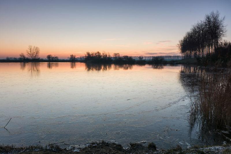 A new day is coming, Boerekreek, Sint-Jan-in-Eremo, Belgium EyeEm Market © Reflection Sky Water Tranquil Scene Sunrise Sony A77ii Belgium Creek Landscape Scenics - Nature