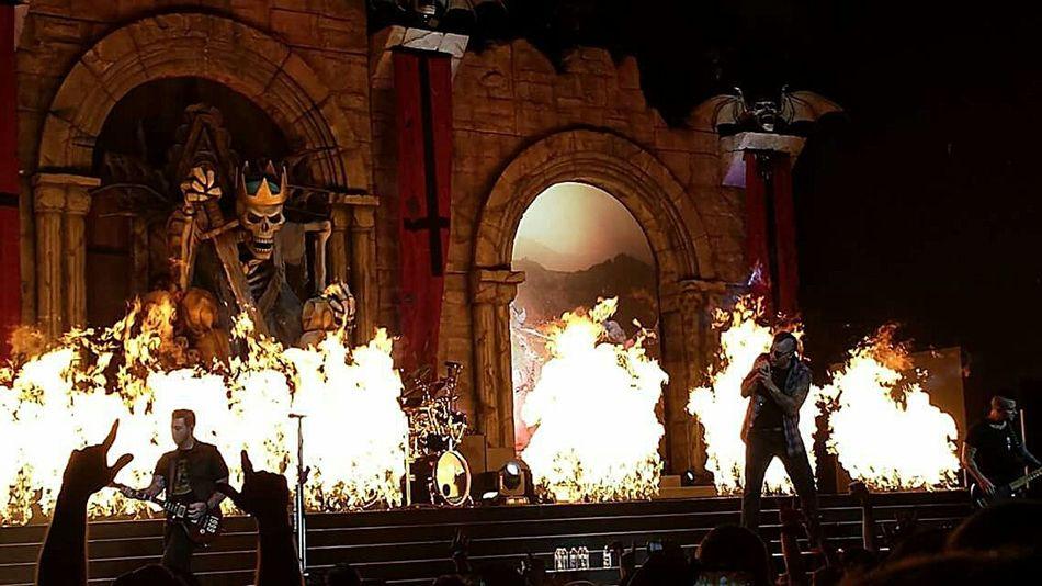 Music Rock Metal Avengedsevenfold A7x Hailtotheking  Concert Fire Live Show