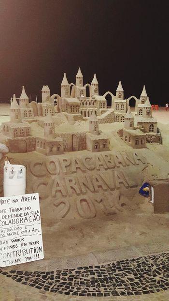 Riodejaneiro Rio De Janeiro Carnaval Carnaval2016 Copacabana Copacabana - Rio De Janeiro Copacabana Beach Castle Sand Castle