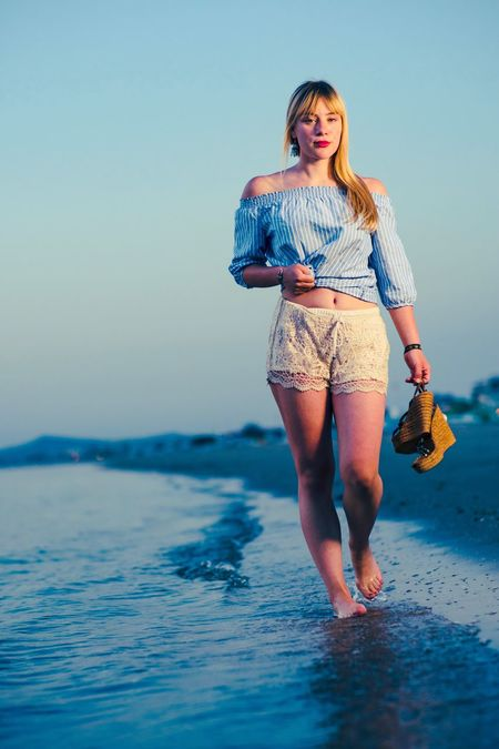Sommergefühle my Girlfriend walking at the beach in rimini Italy Summer Full Length Water Beach One Person Sea Outdoors Vacations Fashion Summer Outfit Red Lips Walking At The Beach Summer Vibes Clear Sky Sun Rise Rimini Italy