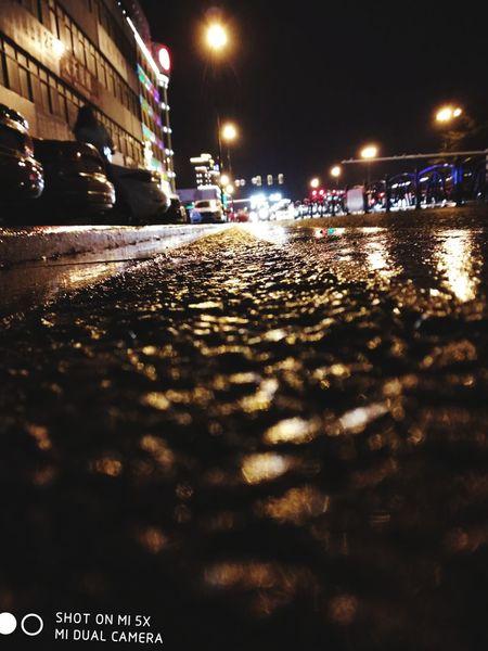Night Street City Street City Lights Rainy Days